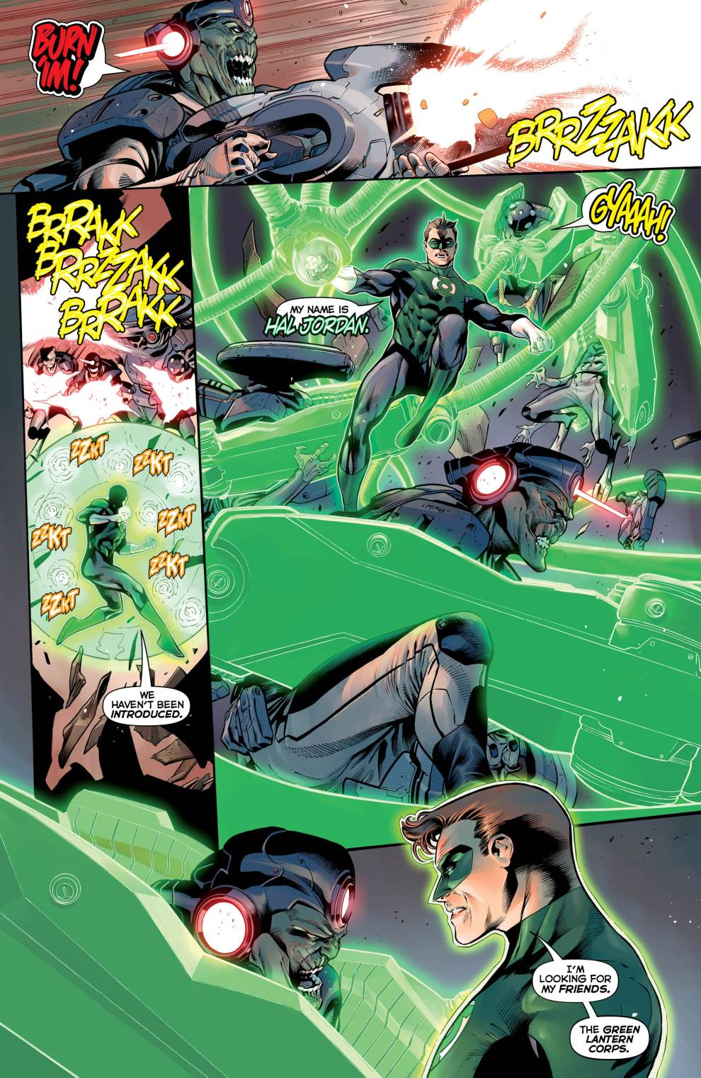 Images from 'Hal Jordan and the Green Lantern Corps #1'