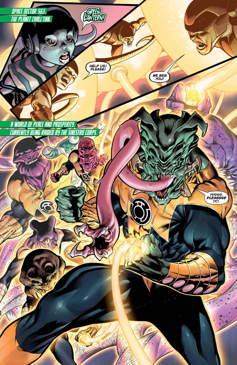 Images from Hal Jordan and the Green Lantern Corps #3. Courtesy of DC Comics.