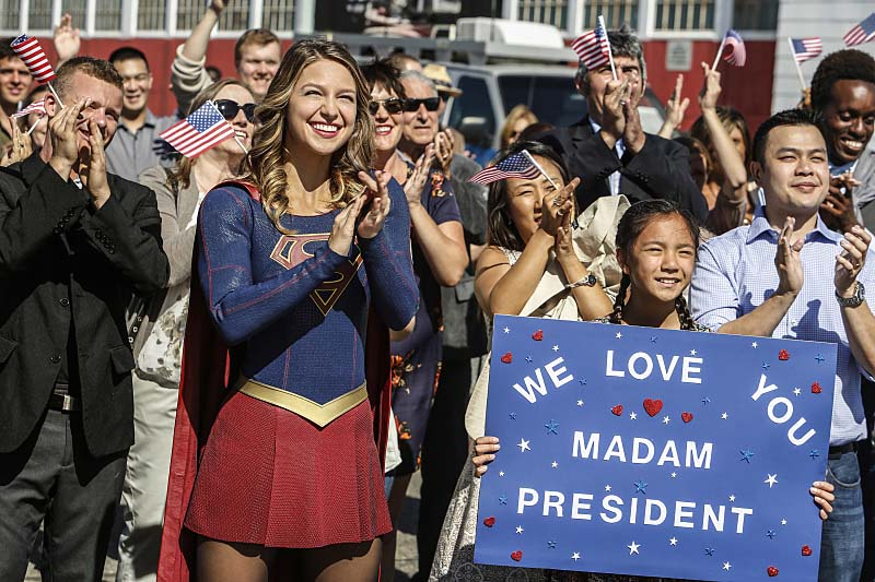 "Supergirl -- ""Welcome to Earth"" -- Image SPG203b_0036 -- Pictured: Melissa Benoist as Kara/Supergirl -- Photo: Bettina Strauss/The CW -- Ì?å© 2016 The CW Network, LLC. All Rights Reserved"