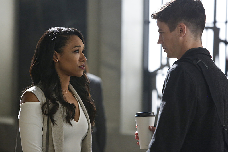 """The Flash -- """"Magenta"""" -- Image: FLA303b_0026b.jpg -- Pictured (L-R) Candice Patton as Iris West and Grant Gustin as Barry Allen -- Photo: Bettina Strauss/The CW -- © 2016 The CW Network, LLC. All rights reserved."""
