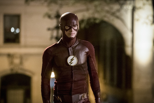 """The Flash -- """"Infantino Street"""" -- FLA322c_0005b.jpg -- Pictured: Grant Gustin as Barry Allen -- Photo: Katie Yu/The CW -- © 2017 The CW Network, LLC. All rights reserved."""