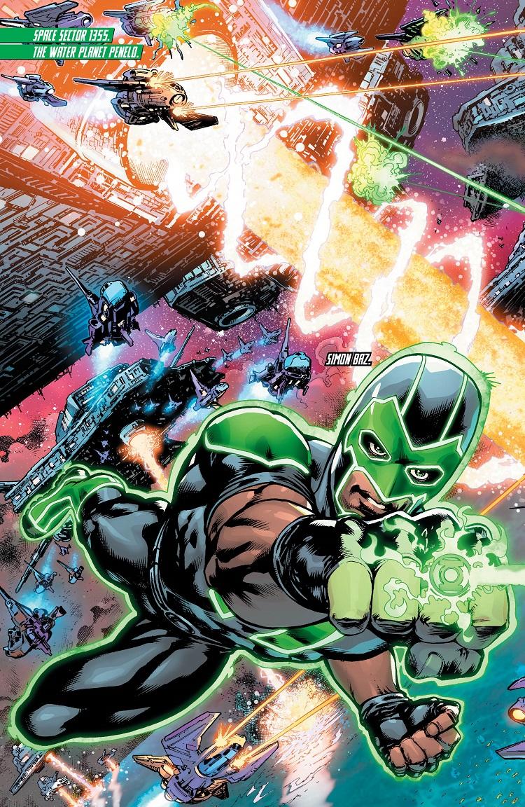 Ravagers vs Lanterns - panel 1