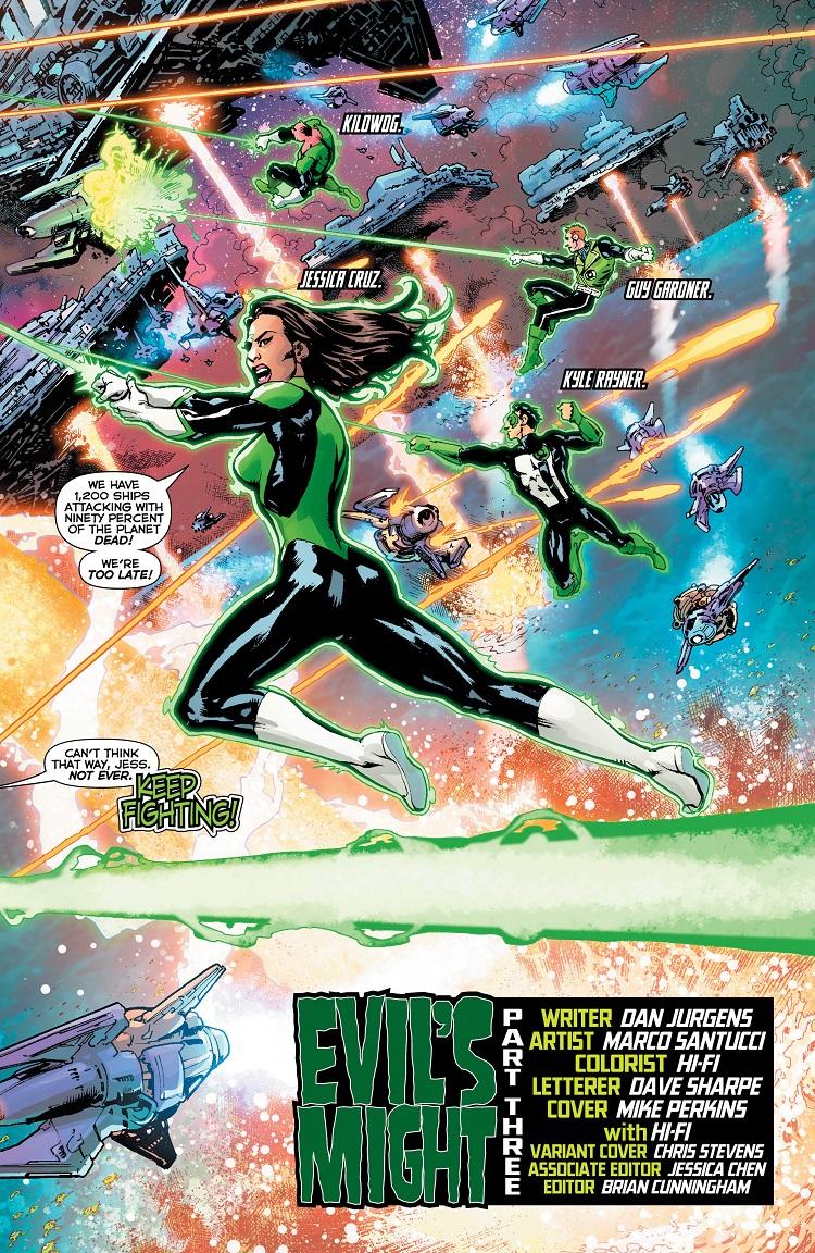 Ravagers vs Lanterns - panel 2