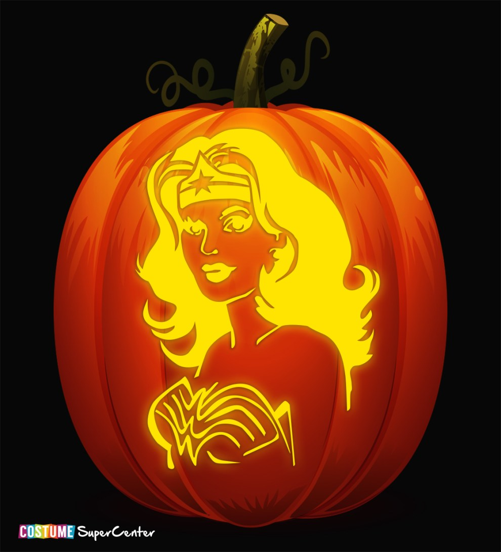 In Time For Halloween Justice League Pumpkin Stencils Dc