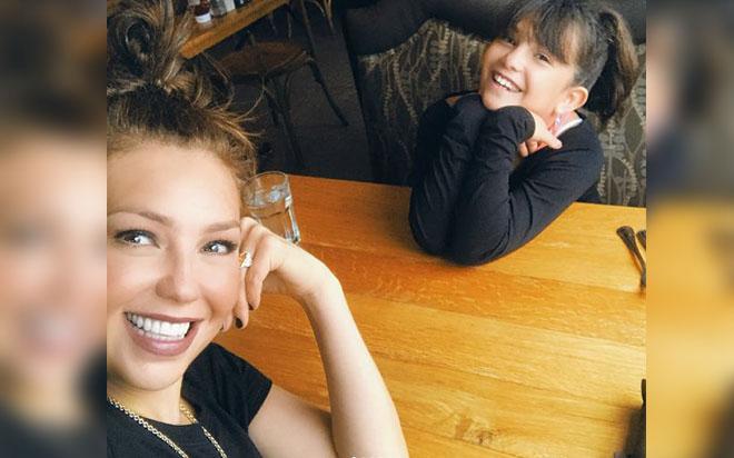 El increíble parecido de Thalía y su hija Sabrina