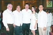 • Pedro Aldecoa, José Trinidad Sánchez, Manuel Quirarte, Betty Milland y Luis Alberto Rodríguez