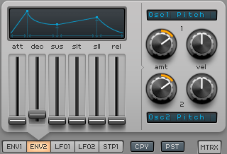 How to Make an Electric Piano in Spire_06 - Env 2