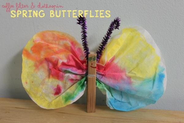 Coffee Filter Clothespin Butterflies