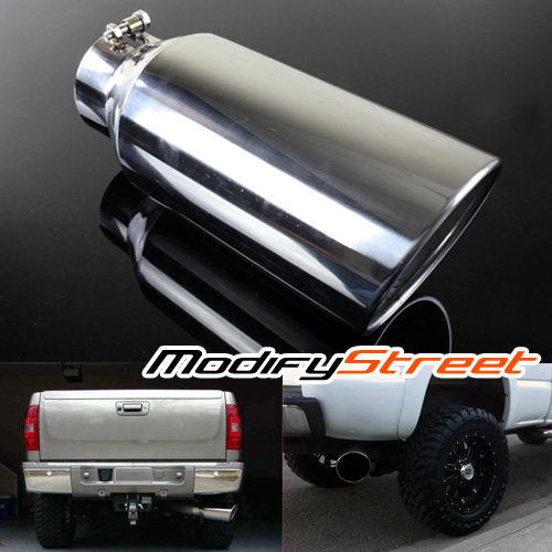 automotive universal 4 inlet 7 outlet 15 long diesel stainless steel bolt on exhaust tip cloud 11 com