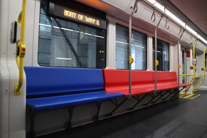 SFMTA welcomes Muni's new train in San Francisco, Calif., on Friday, January 13, 2017. The train will be a part of a 151-train fleet to begin transitioning into service by late summer 2017.