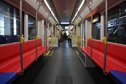 Muni's first brand-new Metro train is expected to begin testing along the N-Judah line within two weeks.