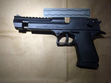 The Airsoft gun Richard Perkins Jr. was allegedly carrying when he was shot and killed on Nov. 15, 2015 is shown in this photo courtesy of Oakland police.