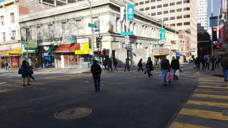 Kearny Street 'scramble'