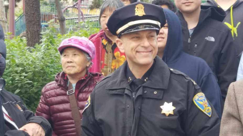 San Francisco police Capt. David Lazar of the Central Station says officers will continue to enforce traffic and red light rules the intersection of Kearny and Clay streets.