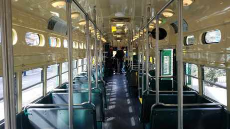 The first of 16 President's Conference Committee streetcars returns to San Francisco in better shape.