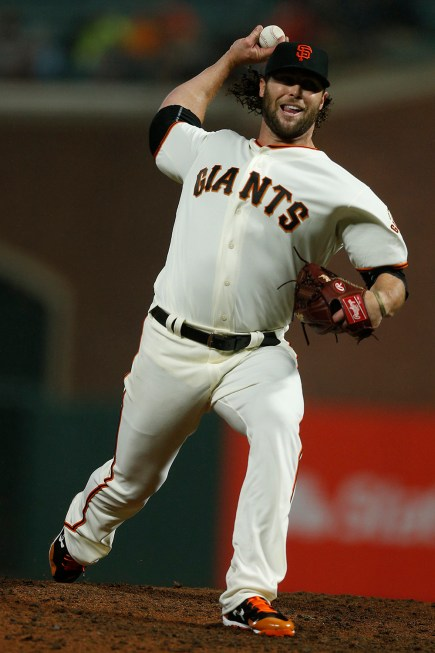 San Francisco Giants relief pitcher Hunter Strickland (60) throws a pitch in the ninth inning as the Arizona Diamondbacks face the San Francisco Giants at AT&T Park in San Francisco, Calif., on Tuesday April 11, 2017.