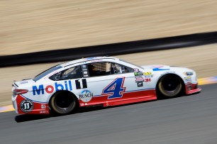 Monster Energy NASCAR Cup Series driver Kevin Harvick (4) makes his way to the front at the Toyota/Save Mart 350 at Sonoma Raceway in Sonoma, Calif., on Sunday, June 24, 2017.