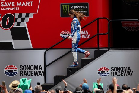 Monster Energy NASCAR Cup Series driver Danica Patrick (10) is announced at the Toyota/Save Mart 350 at Sonoma Raceway in Sonoma, Calif., on Sunday, June 24, 2017.