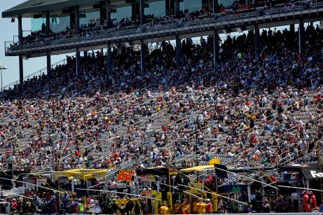 Fans watch the race at the Toyota/Save Mart 350 at Sonoma Raceway in Sonoma, Calif., on Sunday, June 24, 2017.