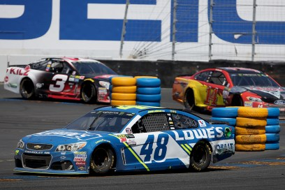 Monster Energy NASCAR Cup Series driver Jimmie Johnson (48) makes his way around turn 11 at the Toyota/Save Mart 350 at Sonoma Raceway in Sonoma, Calif., on Sunday, June 24, 2017.