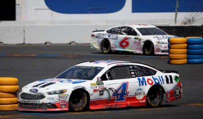Monster Energy NASCAR Cup Series driver Kevin Harvick (4) makes his way around turn 11 at the Toyota/Save Mart 350 at Sonoma Raceway in Sonoma, Calif., on Sunday, June 24, 2017.