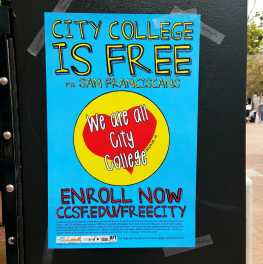 San Francisco residents who have lived in The City for at least one year can now enroll at City College of San Francisco for the fall 2017 semester of free.