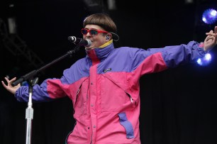 Oliver Tree performs at the Outside Lands Music Festival at Golden Gate Park in San Francisco, Calif., on Friday, August 11, 2017.