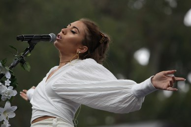 Kali Uchis performs at the Outside Lands Music Festival at Golden Gate Park in San Francisco, Calif., on Friday, August 11, 2017.