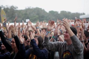 Fans cheer as Rag'N'Bone Man performs at the Outside Lands Music Festival at Golden Gate Park in San Francisco, Calif., on Friday, August 11, 2017.