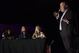 Guy Branum hosts the Talk Show The Game Show at the Outside Lands Music Festival at Golden Gate Park in San Francisco, Calif., on Saturday, August 12, 2017.