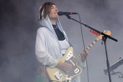 Emily Kokal of Warpaint performs at the Outside Lands Music Festival at Golden Gate Park in San Francisco, Calif., on Saturday, August 12, 2017.