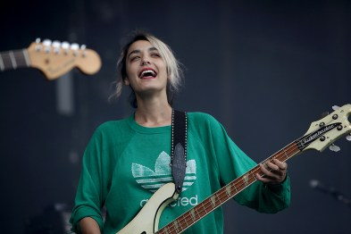 Jenny Lee Lindberg of Warpaint performs at the Outside Lands Music Festival at Golden Gate Park in San Francisco, Calif., on Saturday, August 12, 2017.