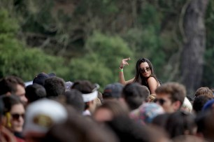 Fans enjoy performances at the Outside Lands Music Festival at Golden Gate Park in San Francisco, Calif., on Saturday, August 12, 2017.