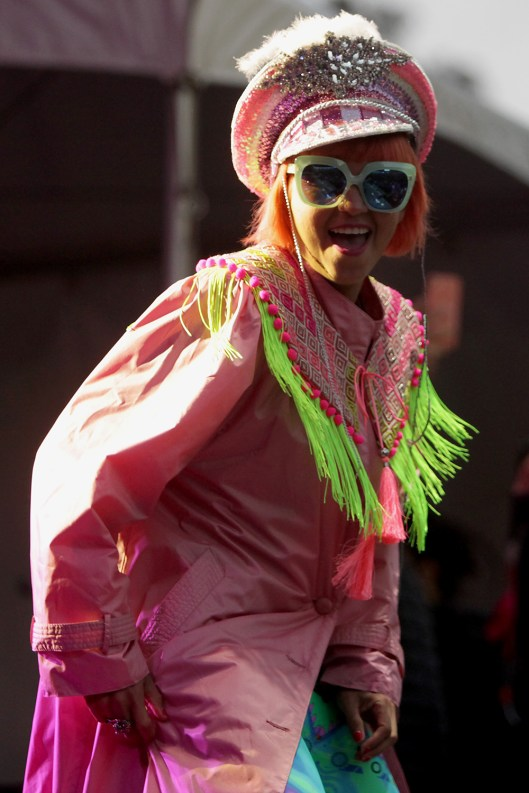 Bomba Estéreo performs at the Outside Lands Music Festival at Golden Gate Park in San Francisco, Calif., on Saturday, August 12, 2017.