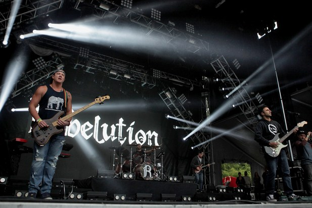 Rebelution performs at the Outside Lands Music Festival at Golden Gate Park in San Francisco, Calif., on Sunday, August 13, 2017.