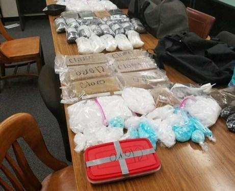 Meth Heroin Drug bust