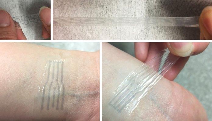 stretchable plastic electrode