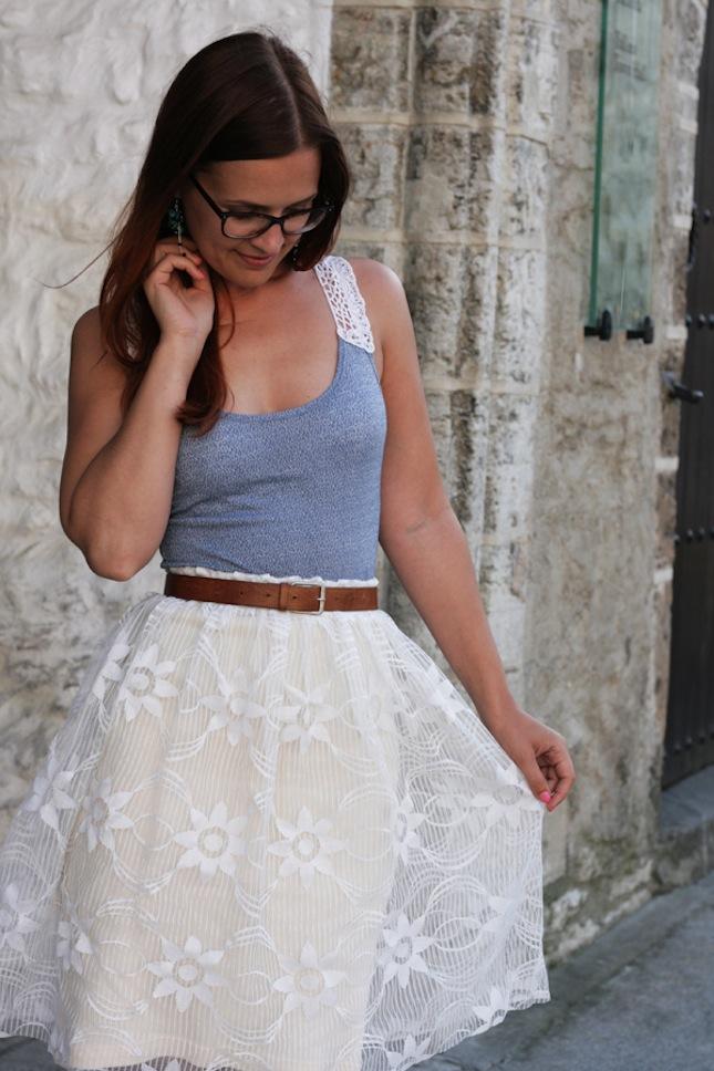 diy lace summer skirt
