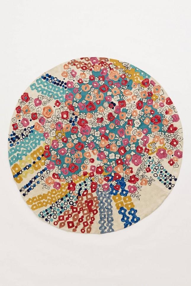 floral confetti rug
