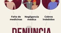 Por un mejor servicio de salud: Denuncia