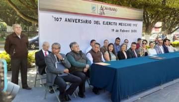 Festejan los  107 años del Ejército Mexicano