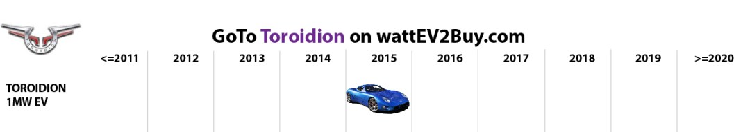 list electric vehicles toroidion electric car models