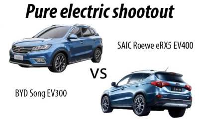 Comparing China's popular pure electric SUVs – BYD Song vs Roewe eRX5