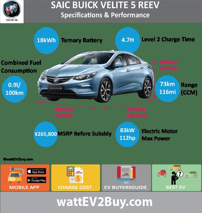 Buick Electric Car: Buick Velite 5 EREV