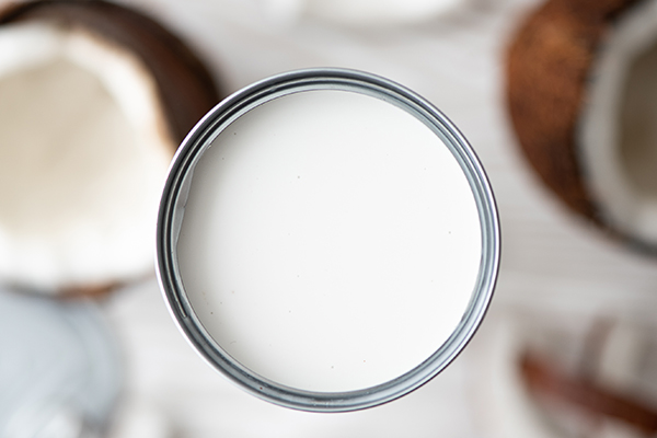 Coconut milk in a can
