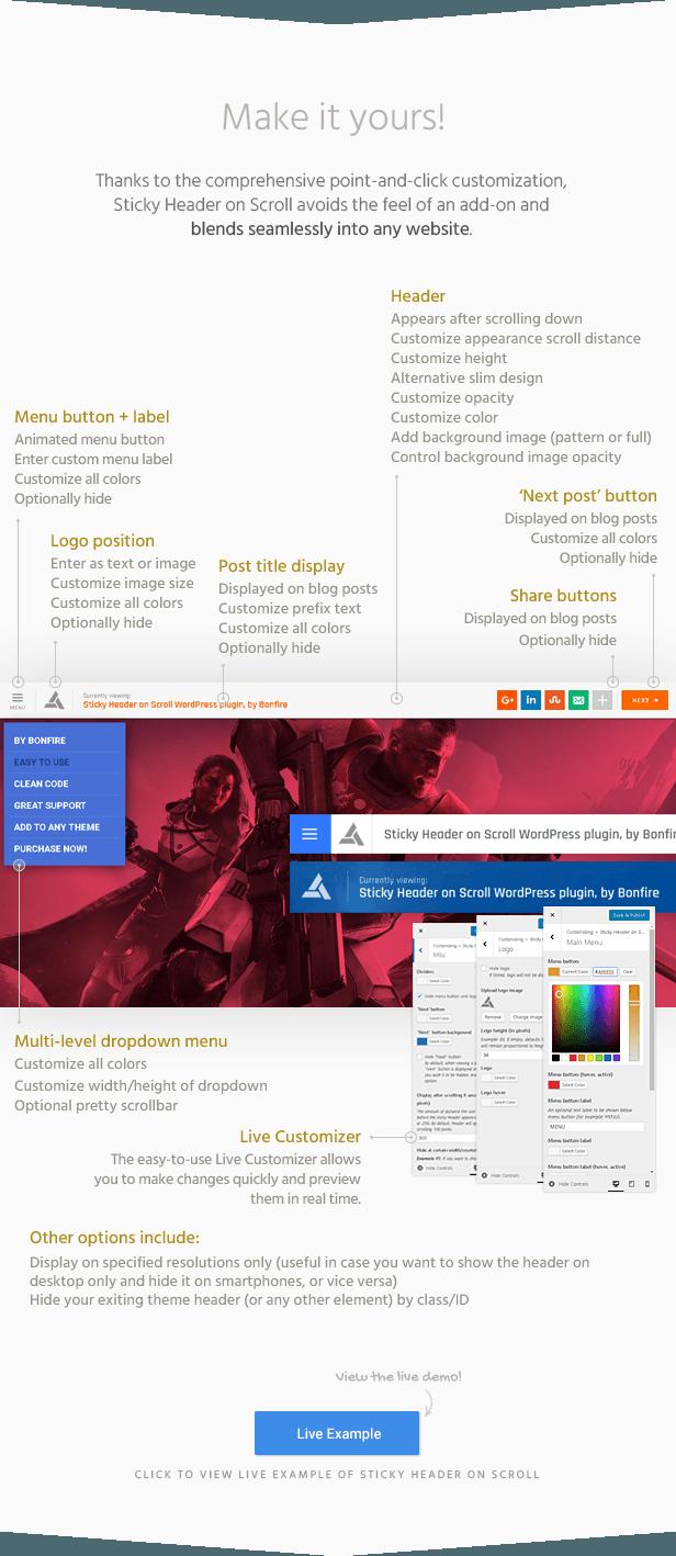 Sticky Header on Scroll WordPress Plugin