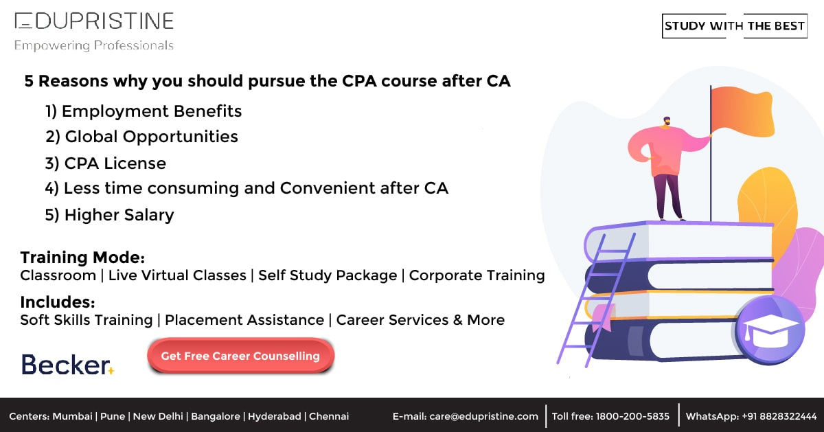 5 Reasons why you should pursue the CPA course after CA