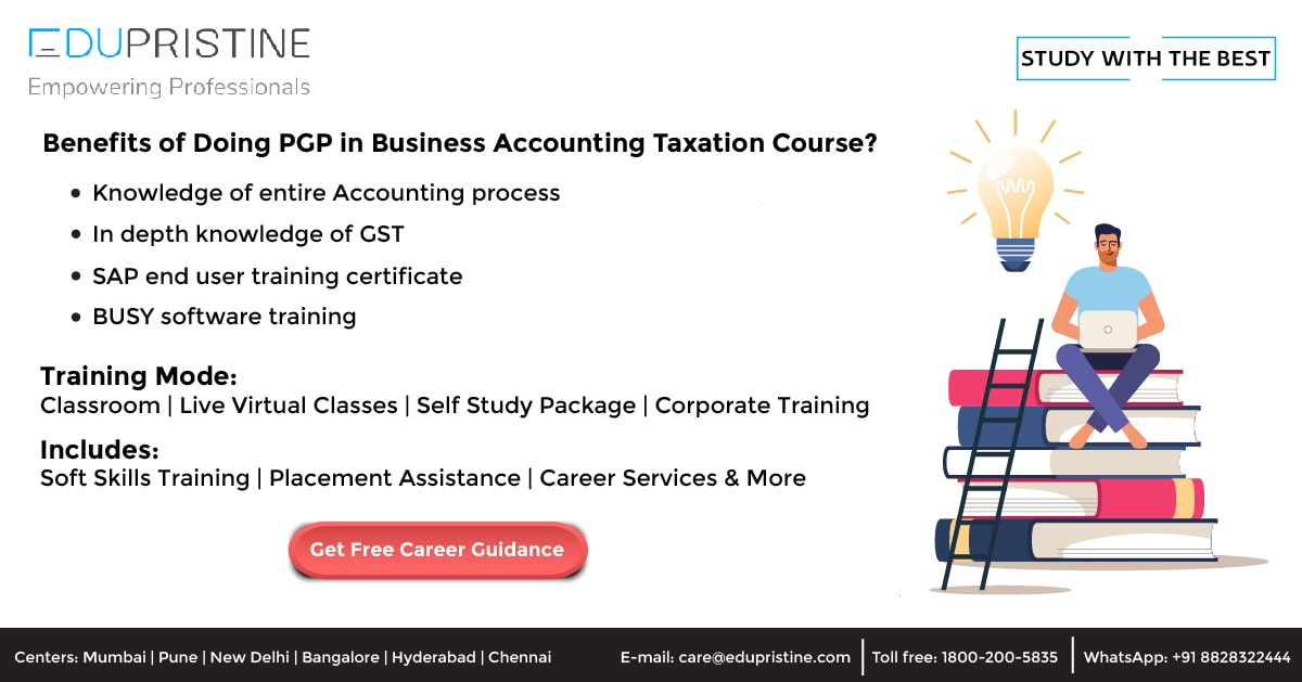 Benefits of Doing PGP in Business Accounting Taxation Course?