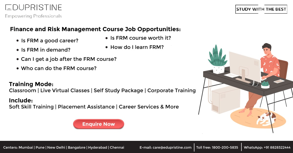 Finance and Risk Management Course Job Opportunities