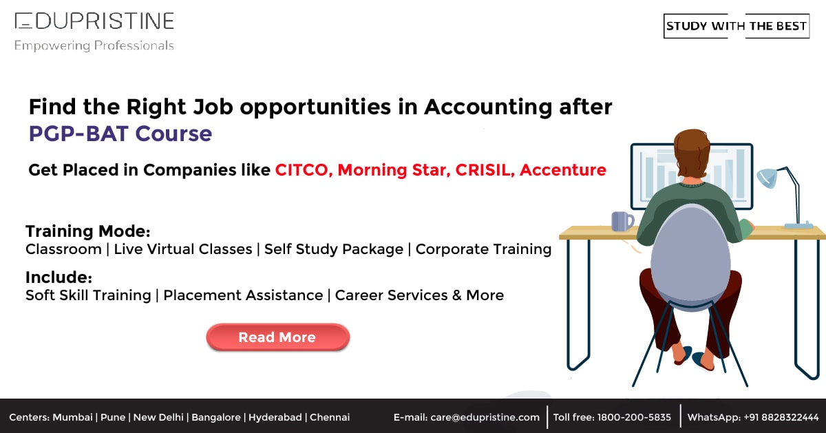 Job opportunities in Accounting after PGP-BAT Course